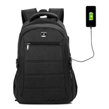 14 inch Laptop Backpack High Quality Nylon USB Charging Travel Backpack Black Business Backpacks Men mochila hombre Back Pack стоимость