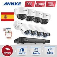 ANNKE 10 1 LCD 4CH 720P 960H DVR NVR HVR CCTV 900TVL Security Camera System 1TB