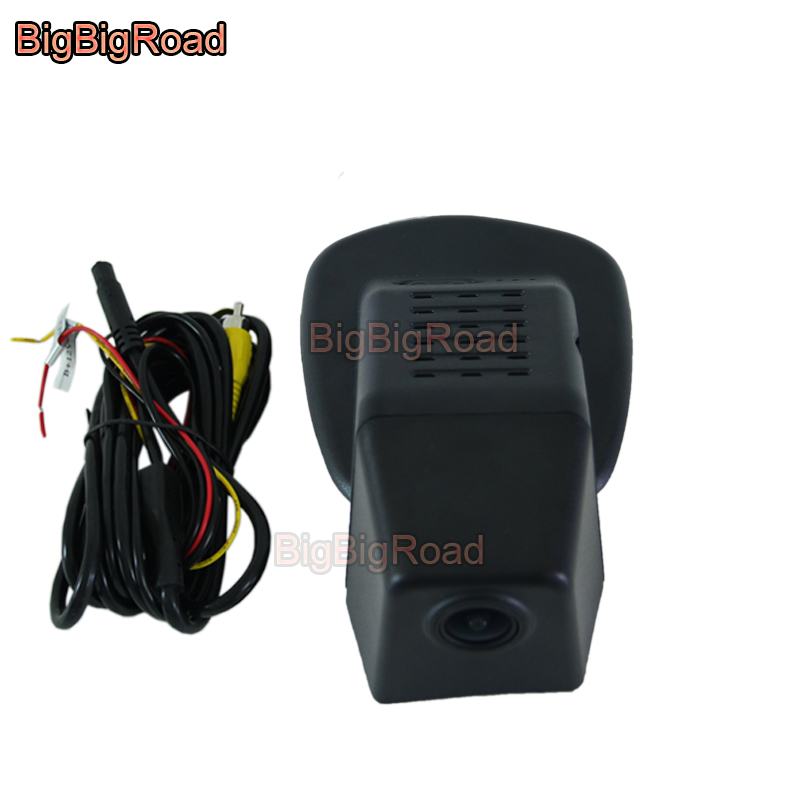 BigBigRoad Car wifi DVR Video Recorder Dashcam Camera For <font><b>Volvo</b></font> S90 v90 V 90 2016 <font><b>2017</b></font> XC60 <font><b>XC</b></font> <font><b>60</b></font> 2018 2019 FHD 1080P image