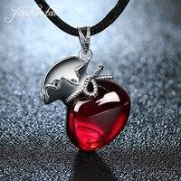 JIASHUNTAI Retro 100% 925 Sterling Silver Pendant For Women Vintage Garnet Gemstone Pendant Jewelry Female