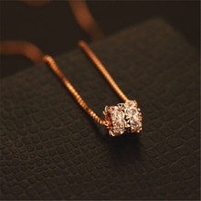CX-Shirling Shiny Zircon Pendant Chain Necklace Brand Design Color Keeping Top Quality Short Necklaces Female Jewelry Gifts