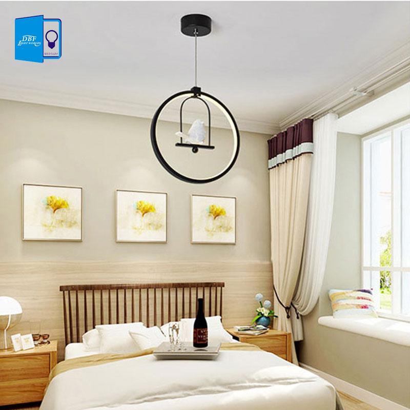 [ДБФ]3 цвета Регулируемый Северной американский Стиль Страна творческий птица привел подвесной светильник спальня гостиная Электропитание ac110/220 В домашнего декора