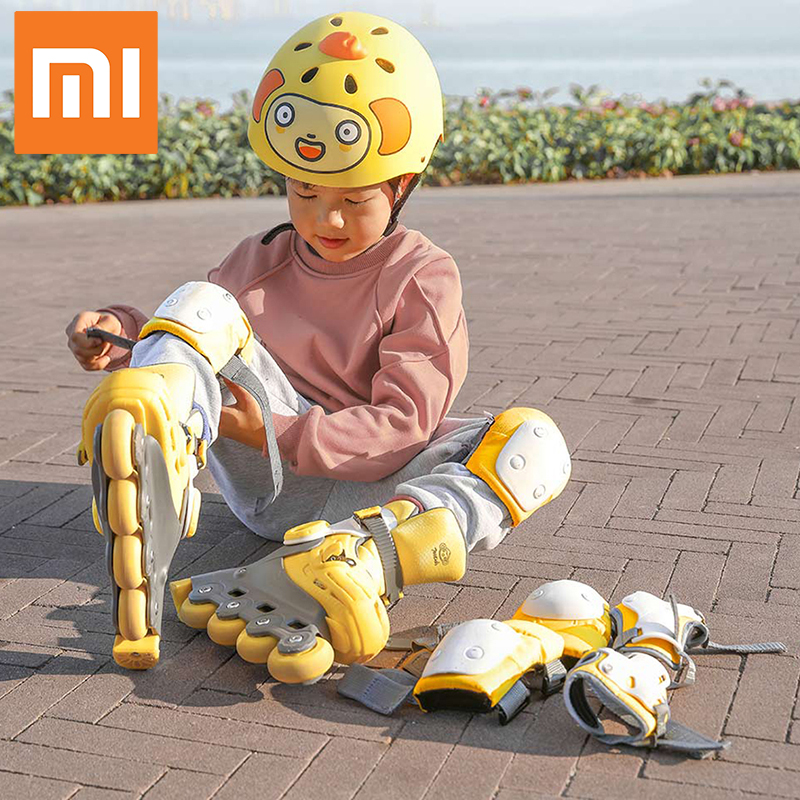 Xiaomi Children Protective Gear Sets Knee Elbow Pads Bicycle Skateboard Ice Skating  Wrist Knee Protector Smart Remote Control