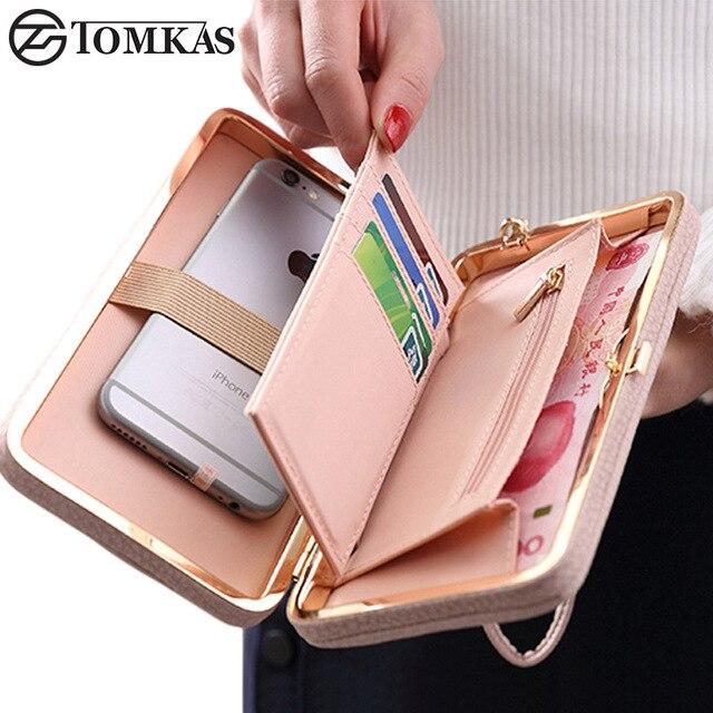 ترف النساء المحفظة حقيبة جلد حالة الهاتف لفون 7 6 6 ثانية زائد 5 ثانية 5 لسامسونج غالاكسي s7 حافة s6 xiaomi redmi 3 ثانية Mi5 note3 4