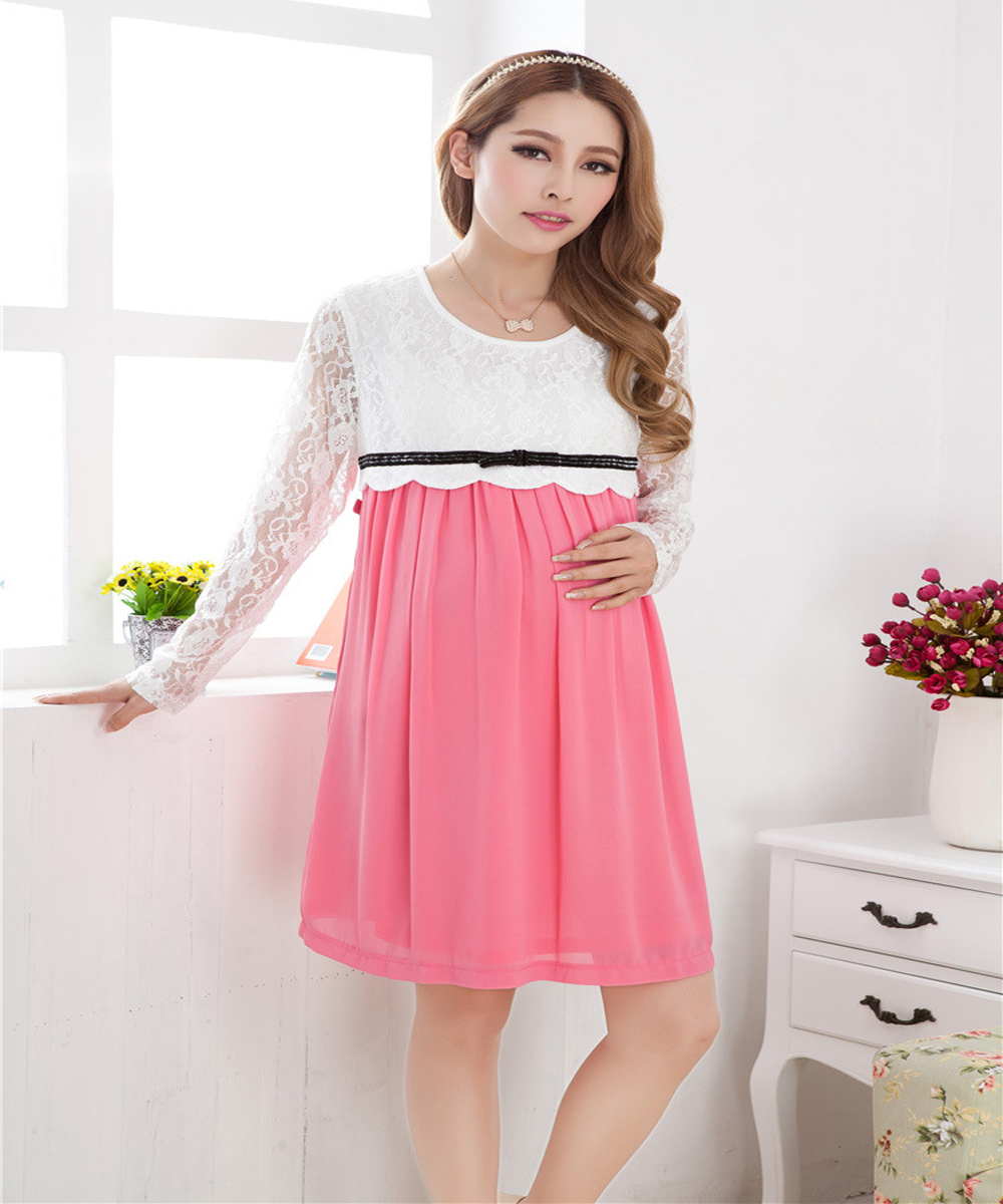 Aliexpress buy long sleeve maternity clothing for pregnant aliexpress buy long sleeve maternity clothing for pregnant women clothes fashion loose one piece dresses top maternity dress wear from reliable ombrellifo Images