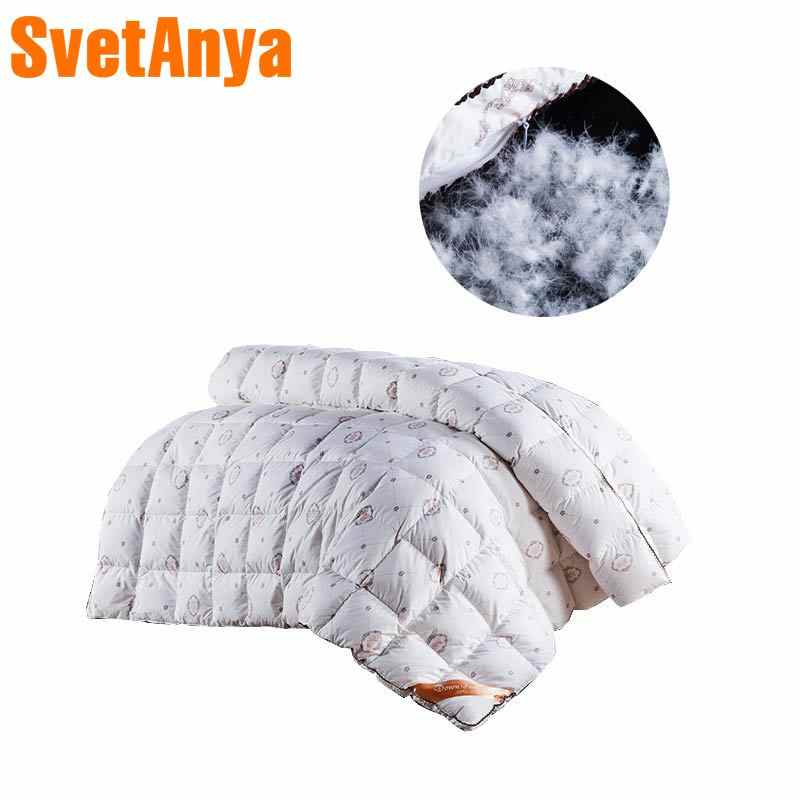 Fashion style duck/goose down duvet comforter quilting winter blankets down-proof cotton linens Single/Queen/King Size quilt