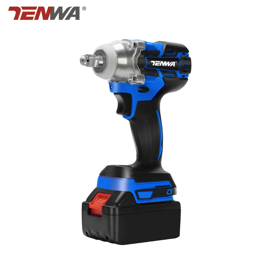 TENWA 21V Impact Wrench Brushless Cordless Electric Wrench Power Tool 320N m Torque Rechargeable Extra Battery
