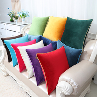 High Quality Plain Cushion Cover Velvet Comfortable Solid Luxury Pillow Covers Decorative Home Office Chair Sofa Pillow Cases
