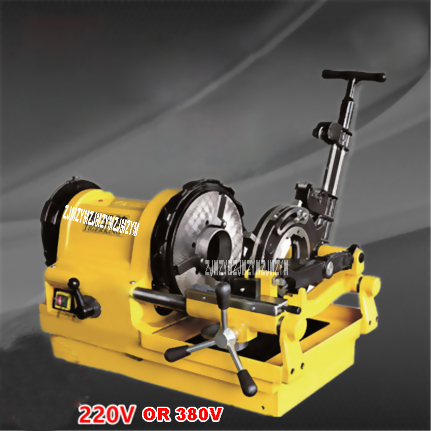 SQ100D1 1/2-4 Electric Pipe Threader,4 Inch Pipe Diehead Threading Machine 750W 220V/380v 50HZ/60HZ 24/10RPM Available electric pipe threader portable electric sleeve machine 220v galvanized pipe sleeve machine electric pipe threader