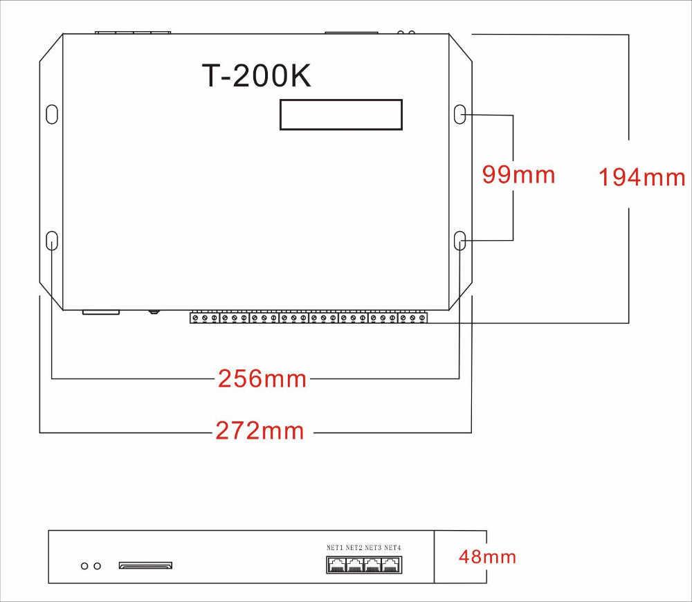 T-200K RGB Controler עבור WS2811 WS2812B WS2813 APA102 LED רצועת אור פיקסל בקר יכול לשלוט 4096 פיקסלים