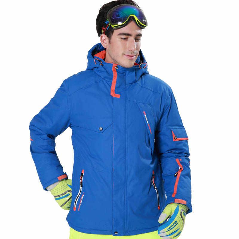 c596afcc5301 Мужская лыжная куртка Сноубордическая куртка мужская высокая водостойкая  горная походная куртка флисовая ветрозащитная спортивная куртка