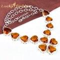 Hot sale Fashion Brand Design western style handmade Rhinestone heart necklace jewelry statement New