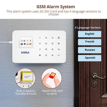KERUI 1.7 Inch TFT Screen GSM Home Burglar Security Alarm Protection APP Control Built In Siren With Door Sensor Alarm 2