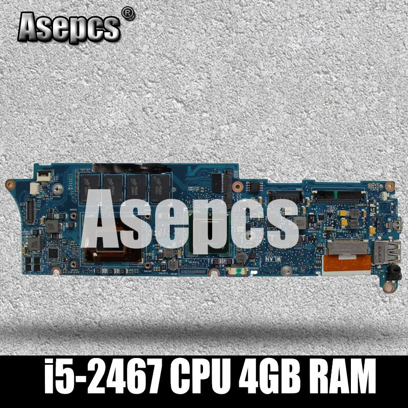 Asepcs UX21E With i5-2467 CPU 4GB RAM Mainboard REV3.1 For Asus UX21 UX21E laptop motherboard USB 3.0 100% testedAsepcs UX21E With i5-2467 CPU 4GB RAM Mainboard REV3.1 For Asus UX21 UX21E laptop motherboard USB 3.0 100% tested