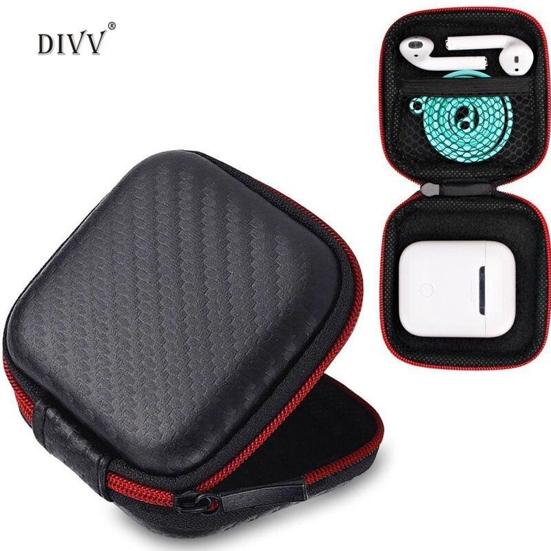 DIVV Earphone Case For Apple Airpods Earphones Holder Hard Shell EVA Carrying 1PC ...