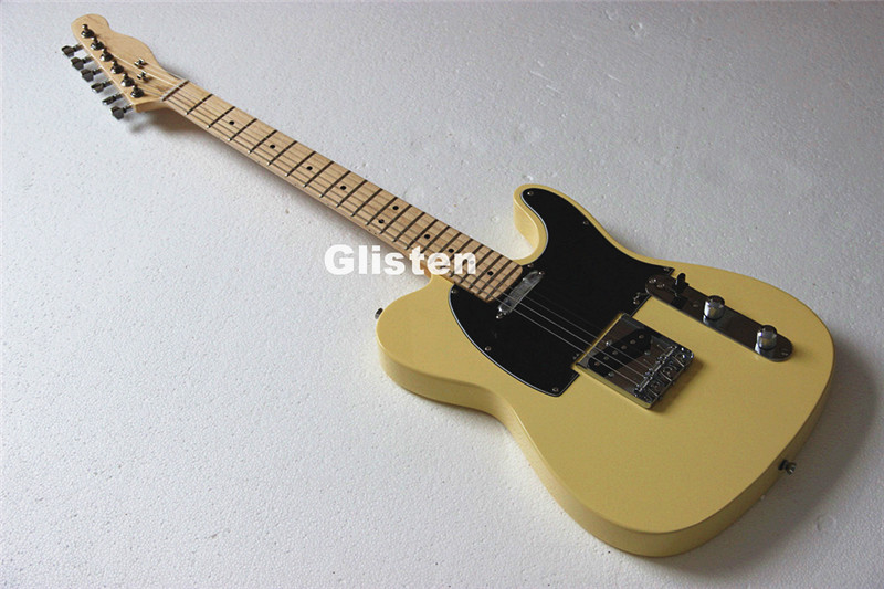 TL Cream Tele Electric Guitar , Three Saddle Bridge, String Through Body