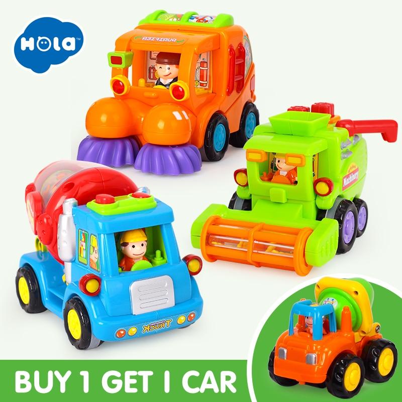 (Sæt af 3) engros baby legetøj push og go friktion drevet bil - Legetøjsbiler