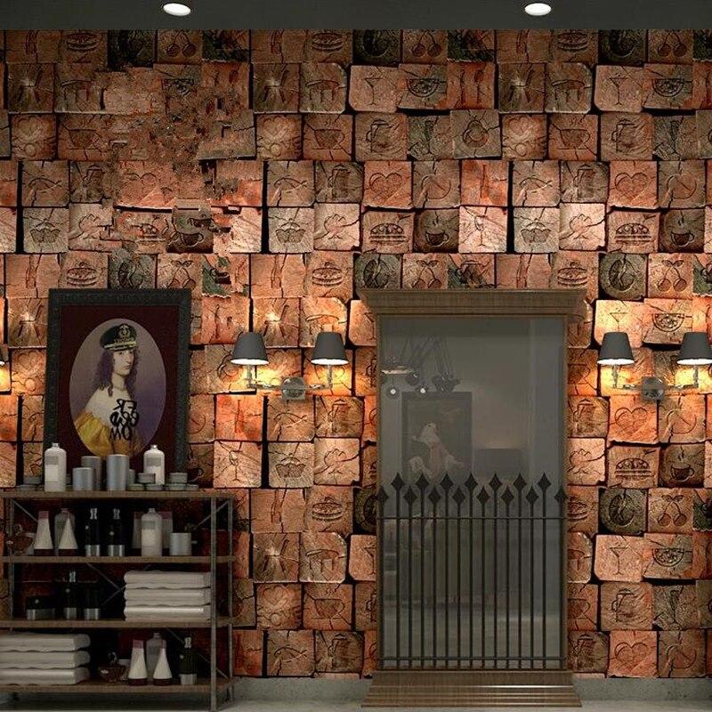 Papier peint Youman imperméable Vintage 3D effet pierre papier peint rouleau moderne rustique réaliste Faux 3d pierre Texture vinyle PVC déco