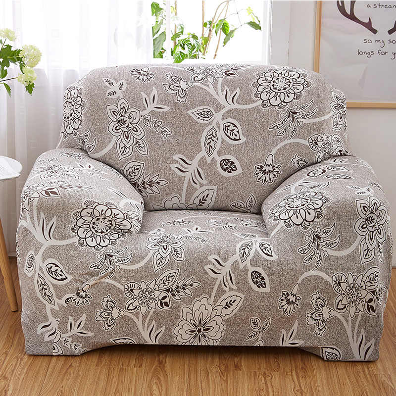 Universal Stretch Armchair Covers Elastic Recliner Covers Case Living Room Furniture Protector Floral Pattern Spandex 1 Seat