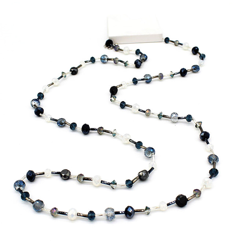 Crystal Long Necklace Tube...