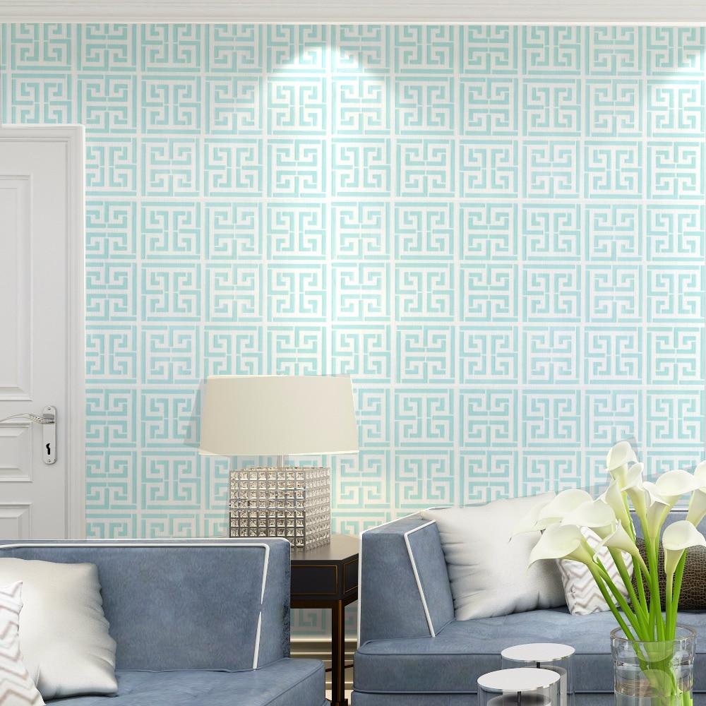 cubierta de vinilo con textura geomtrica papel tapiz para paredes del saln azul en blanco dominante griego with papel tapiz para paredes modernos