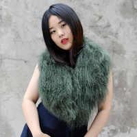 Free Shipping CX-A-52U Women Winter Collar Super Womens Wholesale Real Mongolian Lamb Fur Collar Scarf