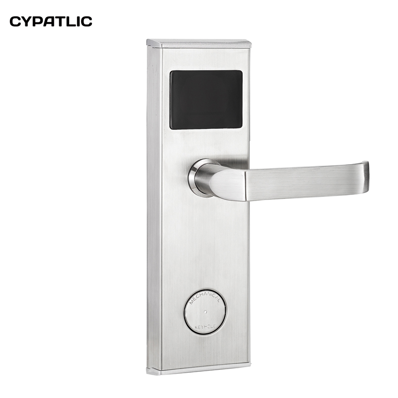 RFID RF digital door lock Temic Card keyless Hotel locks with mechanical key high class digital electronic rfid card hotel door handle locks with master card key options et820rf