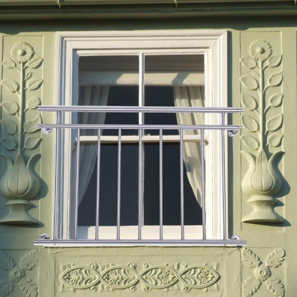 Fence Balcony Railing Stainless Steel Bar Railing Window Grille Babysafe Child Safety 128cm