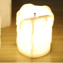 Plastic Flameless LED Warm White Candles