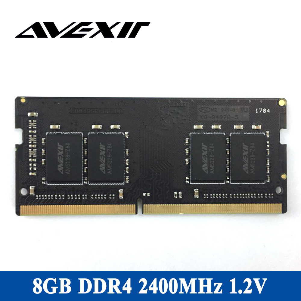 Avexir DDR4 4G laptop memory RAM Speed 2400MHz Voltage 1.2V bandwidth PC4-19200 15-15-15-36 Cl=15 Single RAM memory for notebook