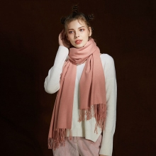 LARRIVED Women Shawl Scarf Autumn Sjaals Luxury Brand New Fashion Cashmere Solid Color Tassel 200*65cm Winter