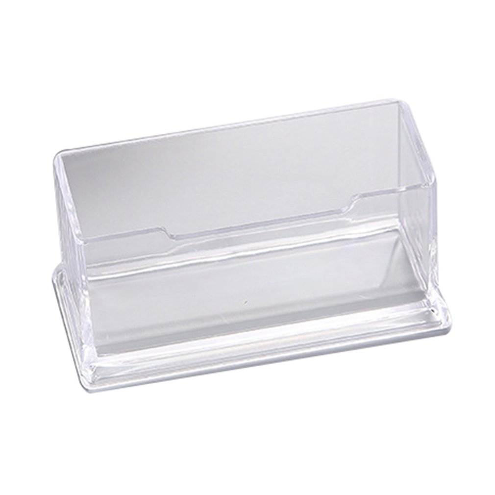 1 Pcs Clear Desk Bussiness Shelf Box Storage Display Stand Acrylic Plastic Transparent Desktop Business Card Holder 105*45*40mm