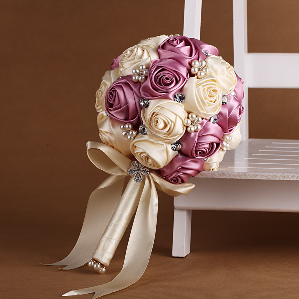 Romantic Bridal Bouquets Bling Beaded Wedding Bouquet Crystal ...