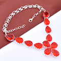 Free Shipping - Top fashion best seller jewelry  women fashion red crystal  necklace N0611