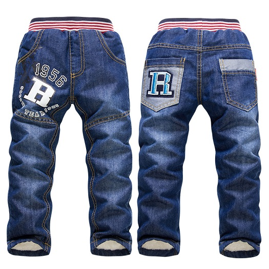 SK083  2018 New Arrivel Children Pants Thick Winter Warm Cashmere Trousers Children Trousers Baby Boys / Girls Jeans