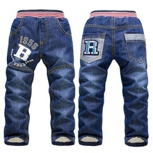 SK083  2017 new arrivel children pants thick winter warm cashmere trousers children trousers baby boys / girls jeans