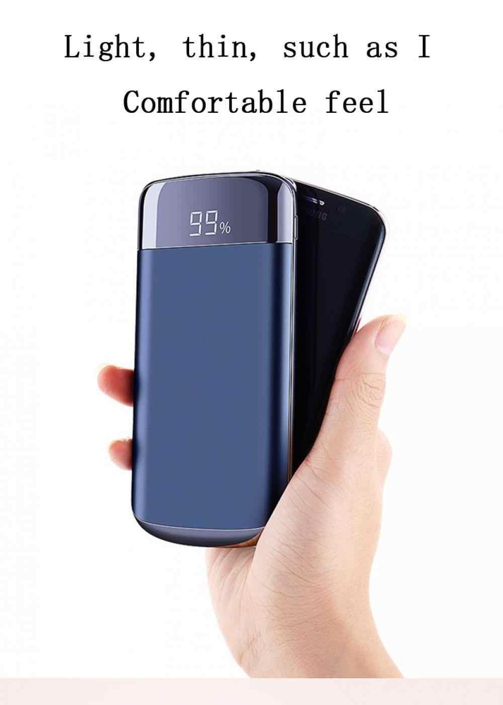 قوة البنك 20000 mah شاحن محمول مزدوج USB الناتج هاتف محمول الخارجية حزمة بطارية مع مصباح ليد ل فون باد سامسونج الجا