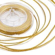 Около 10 м/рулон 0,6 мм плетеные неэластичные бисерные шнуры проволока, серебро, золотая нить для самостоятельного изготовления ювелирных изделий фурнитура для браслетов
