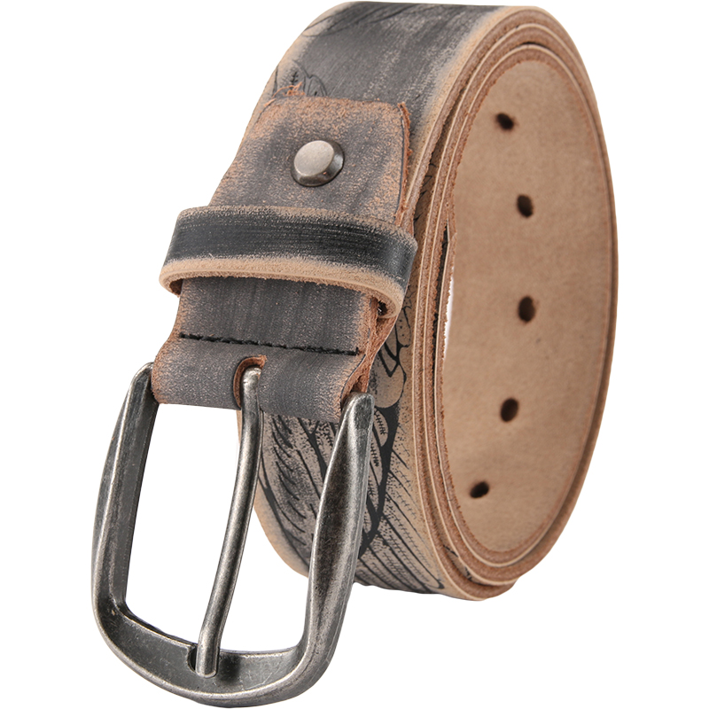 New arrival 2018 men belt genuine leather fashion casual vintage belts pin buckle full grain cow leather cowhide straps Male