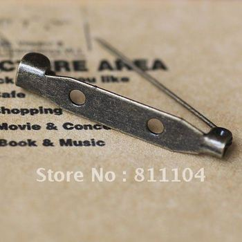 Free Shipping 32*5.2mm Antique Bronze Metal Blank Bases Brooches Safety Pins Clips for Diy Jewelry Settings Findings Wholesale