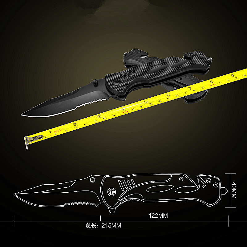 Folding Knife Multifunction Outdoor Survival Tactical <font><b>Karambit</b></font> Hunting Knife Multitool <font><b>G10</b></font> Glass Breaker Tool Navajas Militares image