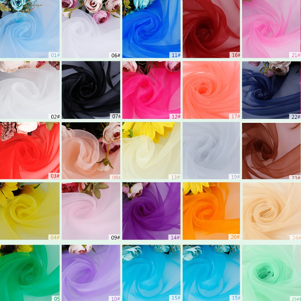 Birthday Event Wedding party Organza fabric Wedding Decorations Crystal Tulle Roll Organza Sheer Gauze DIY Girls gift