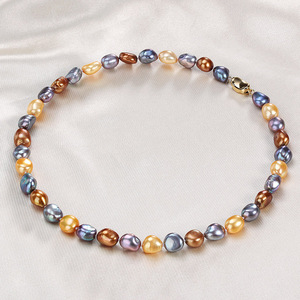 Image 2 - ¡Novedad! collar barroco único 100% joyería de perlas naturales de agua dulce gargantilla de perlas de lujo Collar para mujer