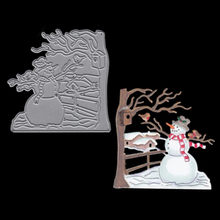 Metal Steel Leaves Cutting Dies Christmas snowman Craft Die Cut Set For DIY Scrapbooking Album Paper Card Photo Decorative(China)