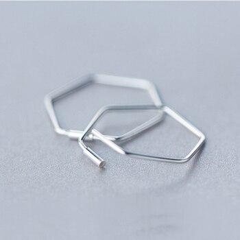 Kinitial Cut Out Hexagon Honeycomb Post Earring Open Line Hive Hexagon Geometric Bee Earrings for Women Statement Earring 4