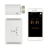 WI FI Термостатические Клапана цифровой программируемый термостат для радиатора контролируется смартфона App
