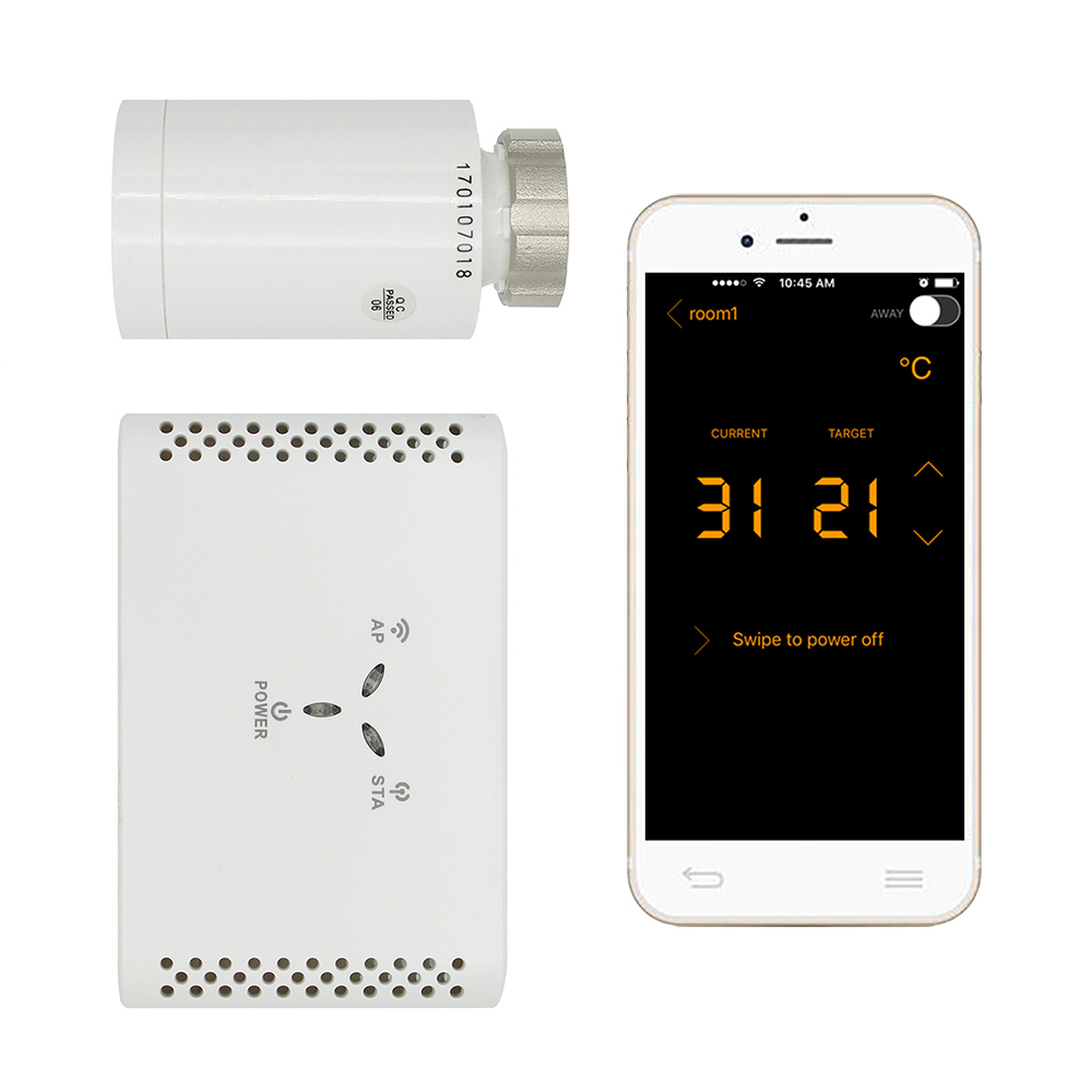 WIFI Thermostatic radiator valve digital programmable thermostat for radiator controlled by smartphone app app controls programmable thermostatic radiator valve thermostat digital energy saving controller wireless control head