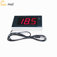 2.3 inch Large Screen Digital Waterproof Temperature Thermometer Large Greenhouse Bathroom Cold Storage Temperature Display