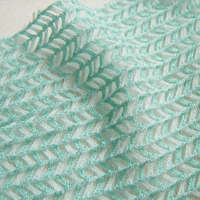 1 yard French Unique Elegant Lace Fabric Colorful Herringbone Smooth Soft Stretch Dress Clothes Sewing Material Mesh Cloth Tissu