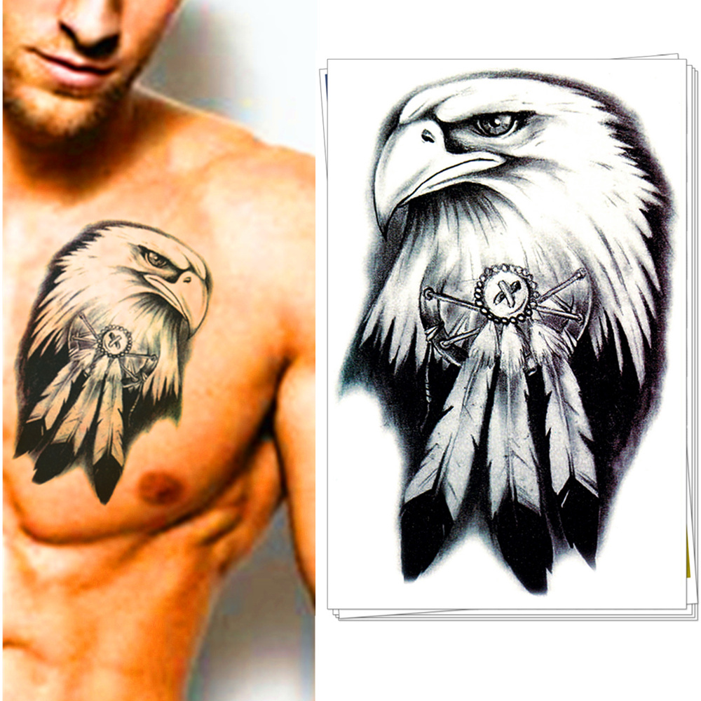American eagle tattoos high quality photos and flash - M Theory Temporary Tattoos Body Art Airforce Eagle Flash Tatoos Stickers 20